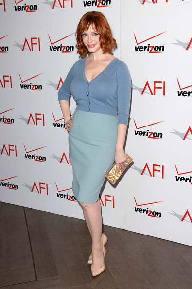 More Pics of Christina Hendricks Short Wavy Cut (4 of 8) - Christina Hendricks Lookbook - StyleBistro