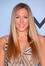 Colbie Caillat wore her hair down in sleek straight layers during the CMA Awards.