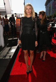 Maria Sharapova chose black Walter Steiger Theo pumps to pair with her LBD.