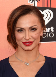 Karina Smirnoff went for a romantic, feminine vibe with this loose side chignon at the iHeartRadio Music Awards.