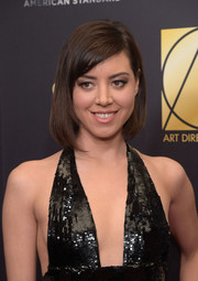 Aubrey Plaza looked oh-so-cute wearing this asymmetrical bob at the Art Directors Guild Awards.