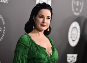 Dita Von Teese sported her signature vintage-style curls at the Art of Elysium Heaven Gala.