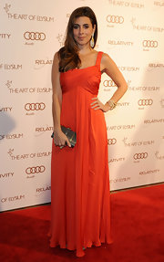 Jamie-Lynn Sigler wore a vibrant orange evening dress to the Art of Elysium Gala.