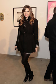 Carly Steel covered up in a fitted wool coat while attending an event in LA.