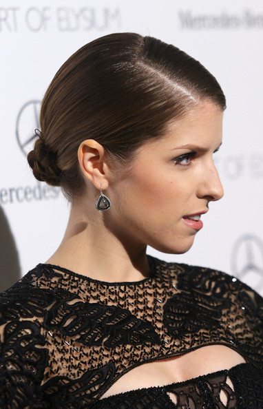 More Pics of Anna Kendrick Braided Bun (1 of 11) - Braided Bun Lookbook - StyleBistro