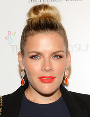 Busy Philipps went for a playful look with this top bun at the Art of Elysium's Heaven Gala.