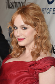 Christina Hendricks showed off a beautifully textured half-up hairstyle a the Heaven Gala.