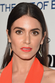 Nikki Reed wore her hair slicked down and straight during the Heaven Gala.