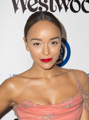 Ashley Madekwe swiped on some bright red lippy for a dazzling beauty look during the Heaven Gala.