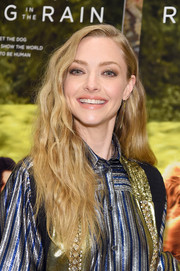 Amanda Seyfried wore her long hair down in boho waves at the New York premiere of 'The Art of Racing in the Rain.'