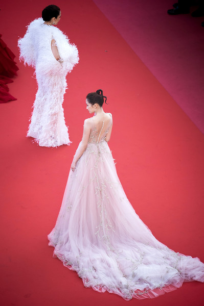 More Pics of Araya A. Hargate Jumpsuit (5 of 16) - Suits Lookbook - StyleBistro [ash is the purest white,gown,wedding dress,dress,clothing,shoulder,fashion model,bridal clothing,pink,bride,bridal party dress,r,guan xiaotong,screening,araya a. hargate,cannes,red carpet arrivals,l,cannes film festival,palais des festivals]