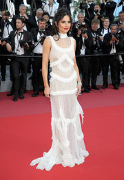 Cheryl Cole donned a ruffled gown by Zuhair Murad for the Cannes Film Festival screening of 'Ash is the Purest White.'