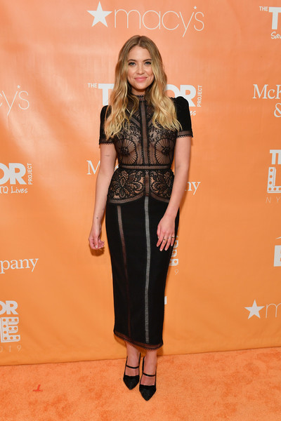 Ashley Benson Sheer Dress