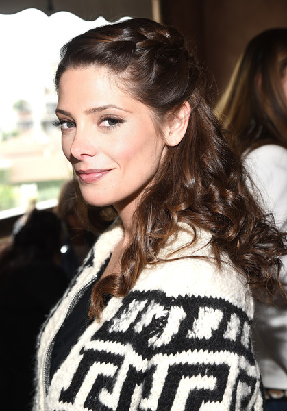 Ashley Greene Long Partially Braided