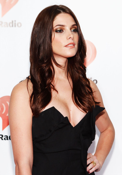 Actress Ashley Greene poses in the press room at the iHeartRadio Music ...