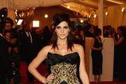 Ashley Greene Strapless Dress