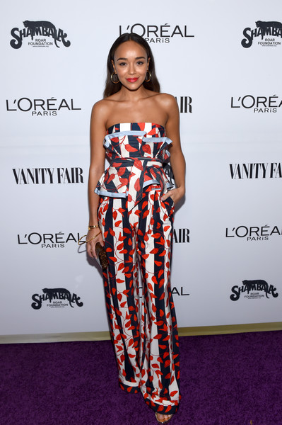 Ashley Madekwe Print Pants