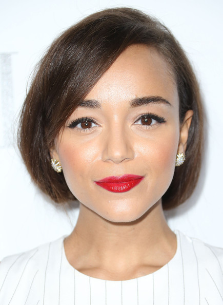 Ashley Madekwe Bobby Pinned Updo