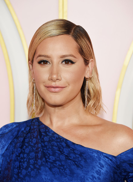 Ashley Tisdale Short Side Part [hair,eyebrow,blond,beauty,human hair color,hairstyle,fashion model,chin,long hair,shoulder,ashley tisdale,arrivals,emmy awards,amazon prime video post emmy awards,west hollywood,california,cecconi,prime video post,amazon,party]