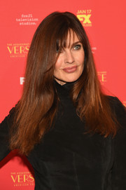 Carol Alt opted for a simple straight style with wispy bangs when she attended the New York screening of 'The Assasination of Gianni Versace: American Crime Story.'