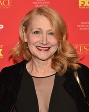 Patricia Clarkson wore her hair in big bouncy curls at the New York screening of 'The Assassination of Gianni Versace: American Crime Story.'