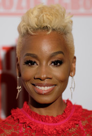 Anika Noni Rose rocked a bleached fauxhawk at the New York screening of 'Assassination Nation.'