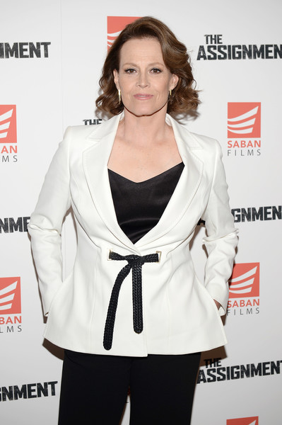 More Pics of Sigourney Weaver Blazer (1 of 6) - Sigourney Weaver Lookbook - StyleBistro [the assignment,white,clothing,outerwear,hairstyle,suit,premiere,carpet,blazer,formal wear,waist,sigourney weaver,screening - arrivals,screening,new york,whitby hotel]