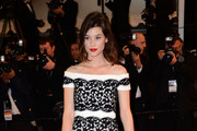 Astrid Berges Frisbey Off-the-Shoulder Dress
