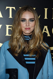 For her beauty look, Chiara Ferragni went punk with super-heavy eye makeup.