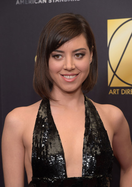 Aubrey Plaza Asymmetrical Cut