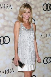 Julie Bowen's beaded white shift dress at the Emmy kick-off party had a 1920s-glam feel.