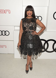 Niecy Nash kept it classic and cute in a little black lace dress during Audi's celebration of Emmys week.