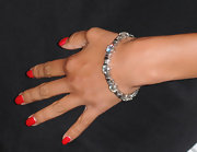 Nicole paired her elegant red polish with an equally stunning diamond bracelet.