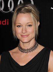 Teri Polo paired her draped neckline with a diamond choker necklace.