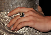Julianna Hough showed off a brilliant diamond cocktail ring at the 2011 Golden Globe Awards.