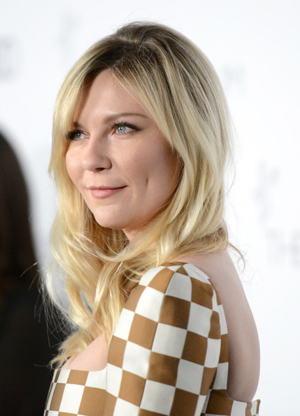 More Pics of Kirsten Dunst Long Curls with Bangs (1 of 17) - Long Curls with Bangs Lookbook - StyleBistro