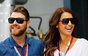 Vogue Williams was ready to watch some serious action in her chic rectangular sunnies at the Australian F1 Grand Prix.