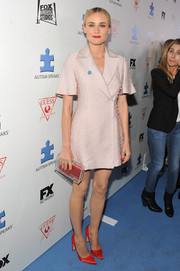 Diane Kruger attended the Autism Speaks' Blue Jean Ball looking cute in a pink blazer dress by Emilia Wickstead.