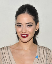Edy Ganem looked fab at the Autism Speaks' Blue Jean Ball with her messy-chic ponytail and deep-red lips.