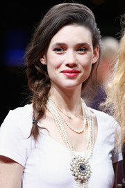 Astrid Berges Frisbey charmed at the Munich Film Festival award ceremony wearing this romantic side braid.