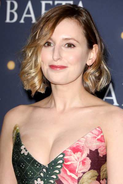 Laura Carmichael looked adorable with her curled-out bob at the BAFTA Film Gala.
