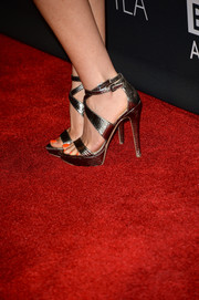 Anastasia Griffith attended the BAFTA LA TV Tea wearing a pair of super-sexy pewter platform sandals.