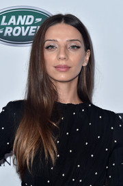Angela Sarafyan wore her hair down in a simple center-parted style at the BAFTA Los Angeles + BBC America TV Tea Party.