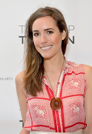 Louise Roe stuck to a barely there lip color at the BAFTA event in LA.