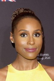Issa Rae pulled her hair back into a tight braided bun for the BAFTA Los Angeles Tea Party.