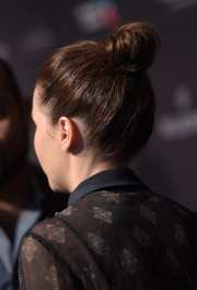 Felicity Jones pulled her locks up into a high bun for the BAFTA Los Angeles tea party.