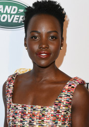 Lupita Nyong'o sported her natural curls at the BAFTA Los Angeles Tea Party.