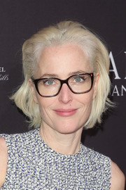 Gillian Anderson sported a messy bob at the BAFTA Los Angeles Tea Party.