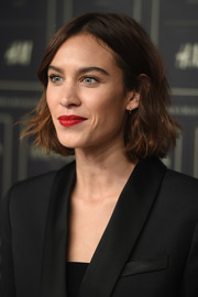 Alexa Chung sported cute short waves at the Balmain x H&M collection launch.