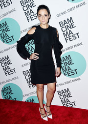 Jenny Slate stayed on trend in a cold-shoulder LBD by David Koma at the BAMcinemaFest screening of 'Landline.'